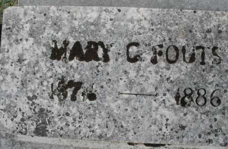 FOUTS, MARY C. - Montgomery County, Ohio | MARY C. FOUTS - Ohio Gravestone Photos