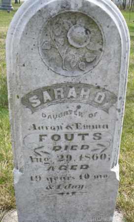 FOUTS, SARAH - Montgomery County, Ohio | SARAH FOUTS - Ohio Gravestone Photos
