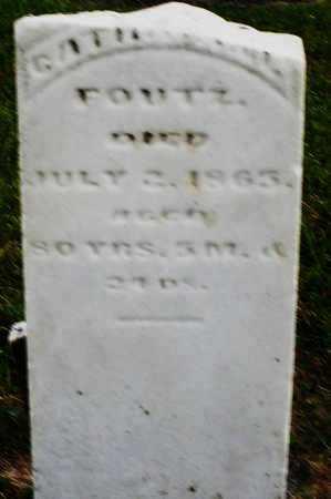 FOUTZ, CATHARINE - Montgomery County, Ohio | CATHARINE FOUTZ - Ohio Gravestone Photos