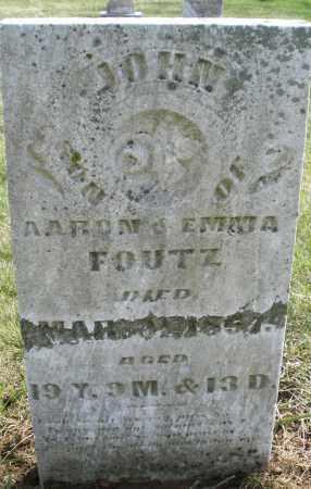 FOUTZ, JOHN - Montgomery County, Ohio | JOHN FOUTZ - Ohio Gravestone Photos
