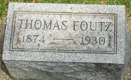 FOUTZ, THOMAS CHARLES - Montgomery County, Ohio | THOMAS CHARLES FOUTZ - Ohio Gravestone Photos