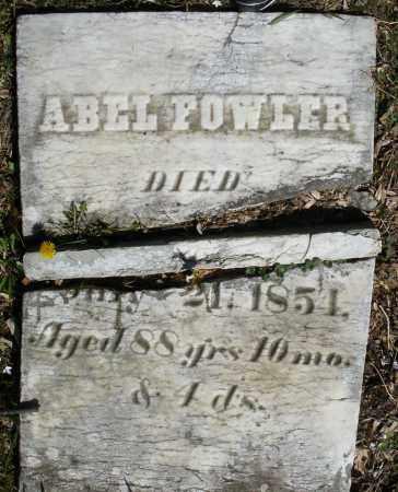 FOWLER, ABEL - Montgomery County, Ohio | ABEL FOWLER - Ohio Gravestone Photos