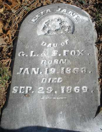 FOX, EFFA JANE - Montgomery County, Ohio | EFFA JANE FOX - Ohio Gravestone Photos