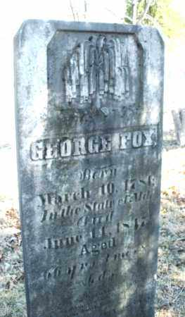 FOX, GEORGE - Montgomery County, Ohio | GEORGE FOX - Ohio Gravestone Photos
