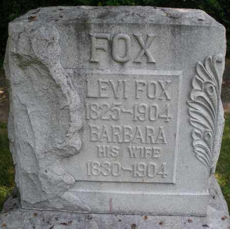 FOX, LEVI - Montgomery County, Ohio | LEVI FOX - Ohio Gravestone Photos