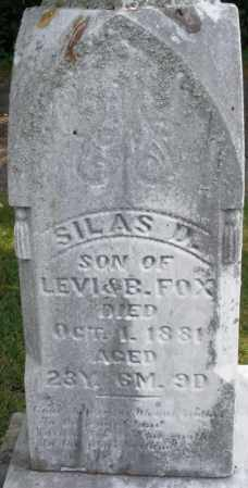 FOX, SILAS D. - Montgomery County, Ohio | SILAS D. FOX - Ohio Gravestone Photos