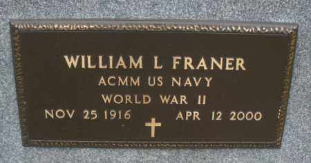 FRANER, WILLIAM L. - Montgomery County, Ohio | WILLIAM L. FRANER - Ohio Gravestone Photos