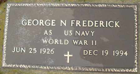 FREDERICK, GEORGE N. - Montgomery County, Ohio | GEORGE N. FREDERICK - Ohio Gravestone Photos