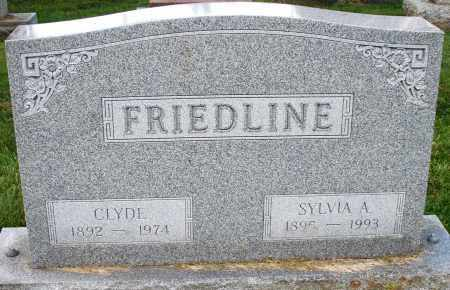 FRIEDLINE, SYLVIA A. - Montgomery County, Ohio | SYLVIA A. FRIEDLINE - Ohio Gravestone Photos