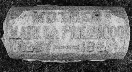 FRIERMOOD, MATILDA - Montgomery County, Ohio | MATILDA FRIERMOOD - Ohio Gravestone Photos