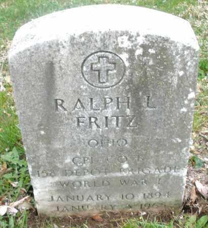 FRITZ, RALPH L. - Montgomery County, Ohio | RALPH L. FRITZ - Ohio Gravestone Photos
