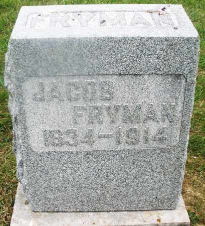 FRYMAN, JACOB - Montgomery County, Ohio | JACOB FRYMAN - Ohio Gravestone Photos