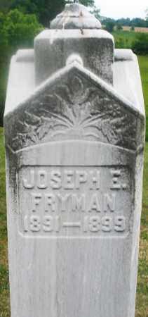 FRYMAN, JOSEPH E. - Montgomery County, Ohio | JOSEPH E. FRYMAN - Ohio Gravestone Photos