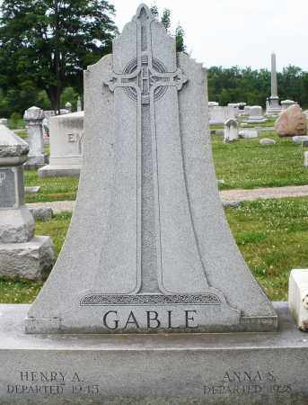 GABLE, HENRY A. - Montgomery County, Ohio | HENRY A. GABLE - Ohio Gravestone Photos