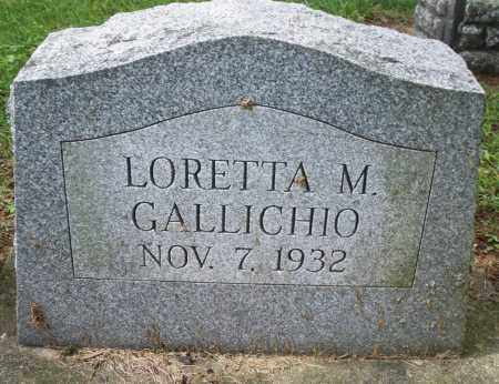 GALLICHIO, LORETTA M. - Montgomery County, Ohio | LORETTA M. GALLICHIO - Ohio Gravestone Photos