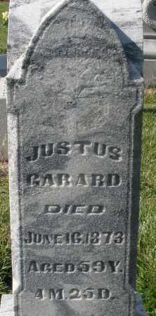 GARARD, JUSTUS - Montgomery County, Ohio | JUSTUS GARARD - Ohio Gravestone Photos
