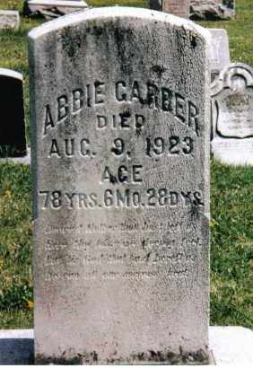 GARBER, ABBIE - Montgomery County, Ohio | ABBIE GARBER - Ohio Gravestone Photos