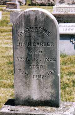 MILLER GARBER, CATHARINE - Montgomery County, Ohio | CATHARINE MILLER GARBER - Ohio Gravestone Photos
