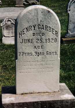 GARBER, HENRY - Montgomery County, Ohio | HENRY GARBER - Ohio Gravestone Photos