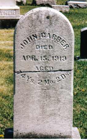 GARBER, JOHN - Montgomery County, Ohio | JOHN GARBER - Ohio Gravestone Photos