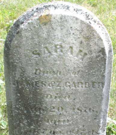 GARBER, SARAH - Montgomery County, Ohio | SARAH GARBER - Ohio Gravestone Photos