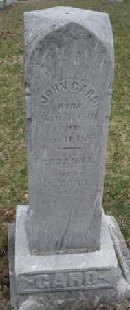 GARD, JOHN - Montgomery County, Ohio | JOHN GARD - Ohio Gravestone Photos