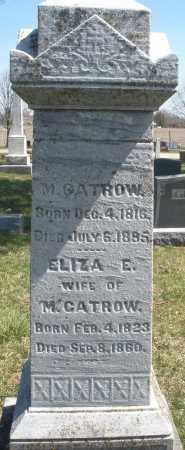 GATROW, ELIZA E. - Montgomery County, Ohio | ELIZA E. GATROW - Ohio Gravestone Photos
