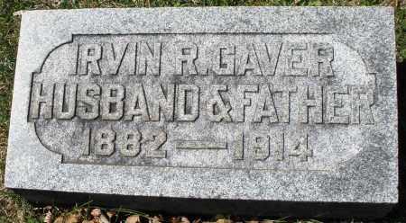 GAVER, IRVIN R. - Montgomery County, Ohio | IRVIN R. GAVER - Ohio Gravestone Photos