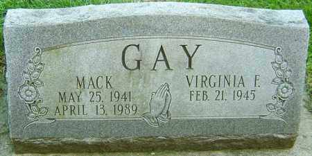 GAY, MACK - Montgomery County, Ohio | MACK GAY - Ohio Gravestone Photos