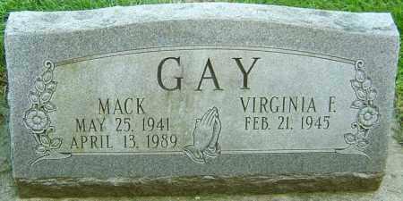 GAY, MACK - Montgomery County, Ohio | MACK GAY - Ohio Gravestone Photos