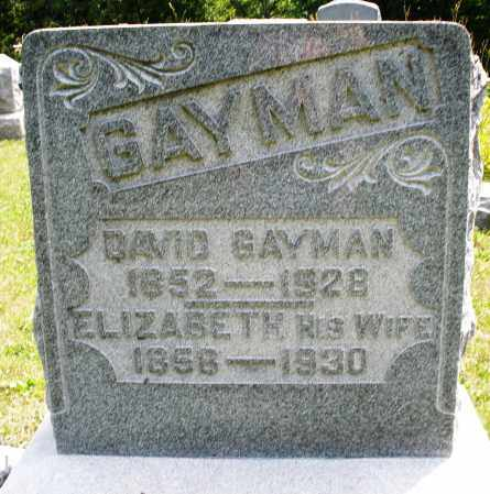 GAYMAN, DAVID - Montgomery County, Ohio | DAVID GAYMAN - Ohio Gravestone Photos