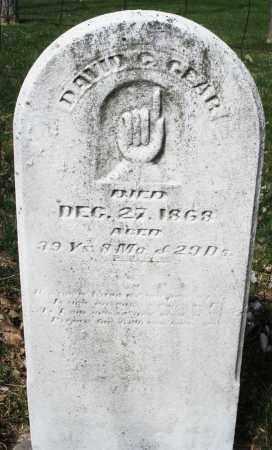 GEAR, DAVID - Montgomery County, Ohio | DAVID GEAR - Ohio Gravestone Photos