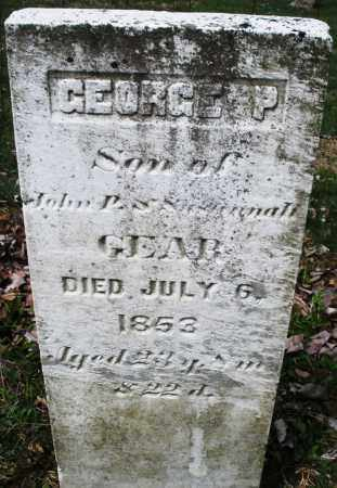 GEAR, GEORGE P - Montgomery County, Ohio | GEORGE P GEAR - Ohio Gravestone Photos