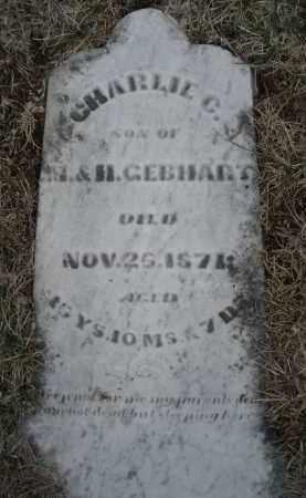 GEBHART, CHARLIE C. - Montgomery County, Ohio | CHARLIE C. GEBHART - Ohio Gravestone Photos