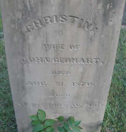 GEBHART, CHRISTINA - Montgomery County, Ohio | CHRISTINA GEBHART - Ohio Gravestone Photos