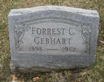 GEBHART, FORREST C. - Montgomery County, Ohio | FORREST C. GEBHART - Ohio Gravestone Photos