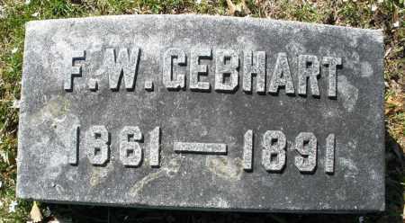 GEBHART, F. W. - Montgomery County, Ohio | F. W. GEBHART - Ohio Gravestone Photos
