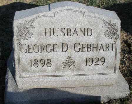 GEBHART, GEORGE D. - Montgomery County, Ohio | GEORGE D. GEBHART - Ohio Gravestone Photos