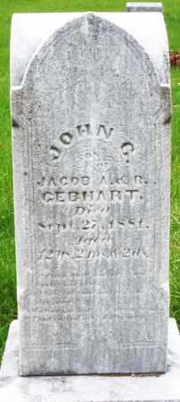 GEBHART, JOHN C. - Montgomery County, Ohio | JOHN C. GEBHART - Ohio Gravestone Photos