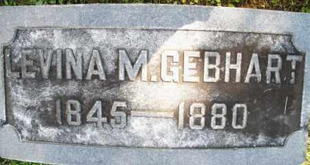 GEBHART, LEVINA M. - Montgomery County, Ohio | LEVINA M. GEBHART - Ohio Gravestone Photos