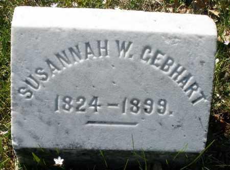 GEBHART, SUSANNAH W. - Montgomery County, Ohio | SUSANNAH W. GEBHART - Ohio Gravestone Photos