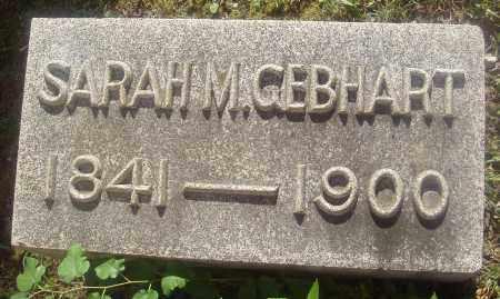 GEBHART, SARAH M. - Montgomery County, Ohio | SARAH M. GEBHART - Ohio Gravestone Photos