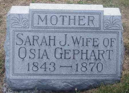 GEBHART, SARAH JANE - Montgomery County, Ohio | SARAH JANE GEBHART - Ohio Gravestone Photos
