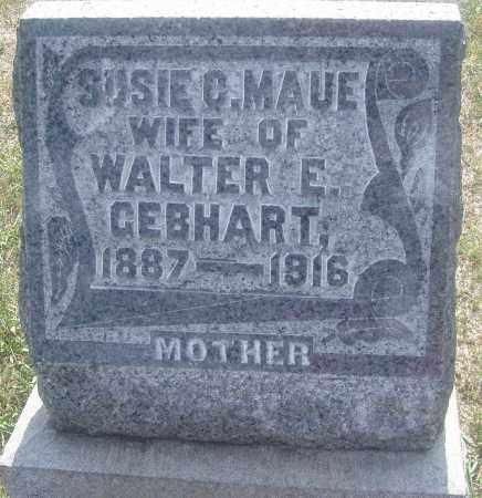 MAUE GEBHART, SUSIE C. - Montgomery County, Ohio | SUSIE C. MAUE GEBHART - Ohio Gravestone Photos