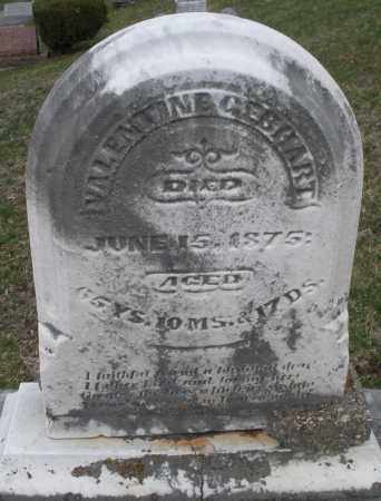 GEBHART, VALENTINE - Montgomery County, Ohio | VALENTINE GEBHART - Ohio Gravestone Photos