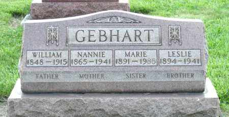 GEBHART, NANNIE - Montgomery County, Ohio | NANNIE GEBHART - Ohio Gravestone Photos