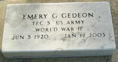 GEDEON, EMERY G - Montgomery County, Ohio | EMERY G GEDEON - Ohio Gravestone Photos
