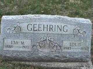 GEEHRING, LOUIS - Montgomery County, Ohio | LOUIS GEEHRING - Ohio Gravestone Photos