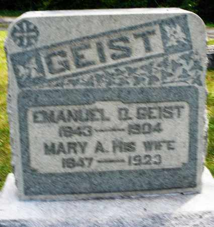 GEIST, MARY A. - Montgomery County, Ohio | MARY A. GEIST - Ohio Gravestone Photos