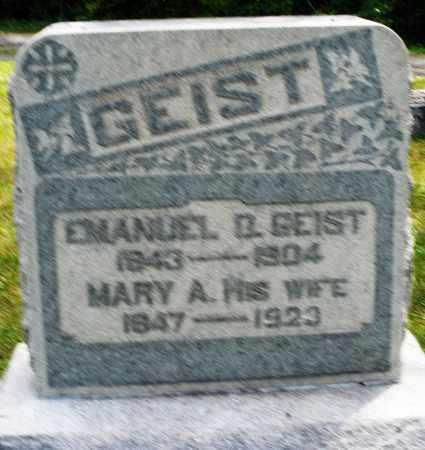 GEIST, EMANUEL D. - Montgomery County, Ohio | EMANUEL D. GEIST - Ohio Gravestone Photos